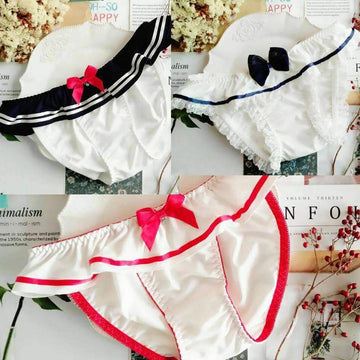 [leggycozy] Maid & Sailor Style Ruffle Panties
