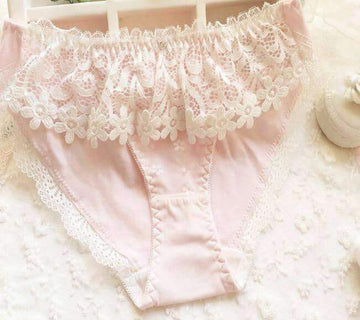 [leggycozy] Princess Lovely Cute Embroidery Applique Panties