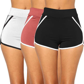[leggycozy] Pure Colors Sports Casual Boyshorts Panties -Large Size
