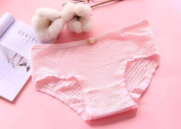 leggycozy Panties [leggycozy] Seamless Cute Candy Color Panties with Flower