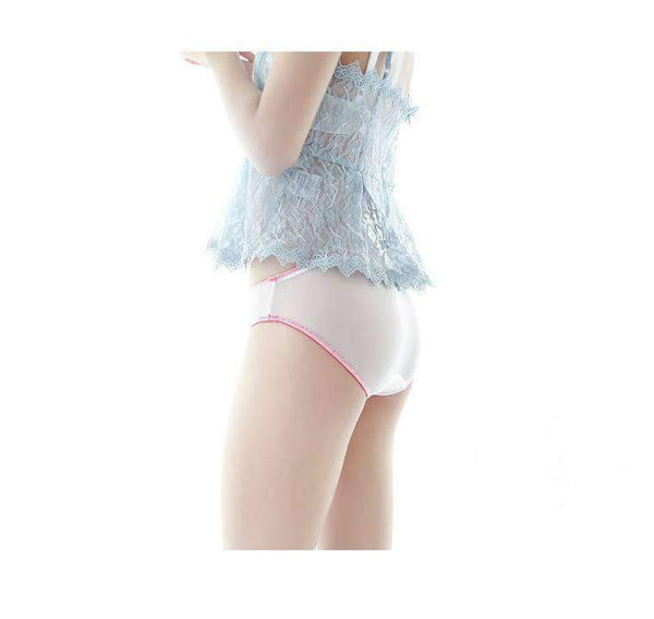 leggycozy Panties [leggycozy] Sexy & Lovely Strawberry Pineapple Embroidery Transparent Mesh Panties