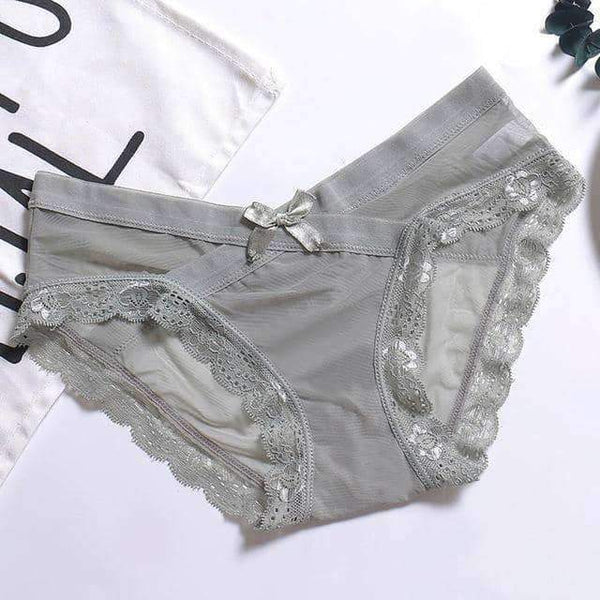 leggycozy Panties [leggycozy] Tempting Lace Low Waist Seamless Panties