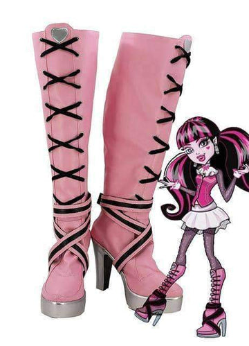 [leggycozy] Monster High Draculaura Cosplay Boots Anime Shoes