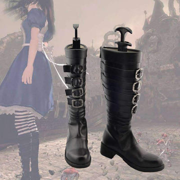 [leggycozy] New Arrival Customized Alice Madness Returns Cosplay Boots Anime Shoes