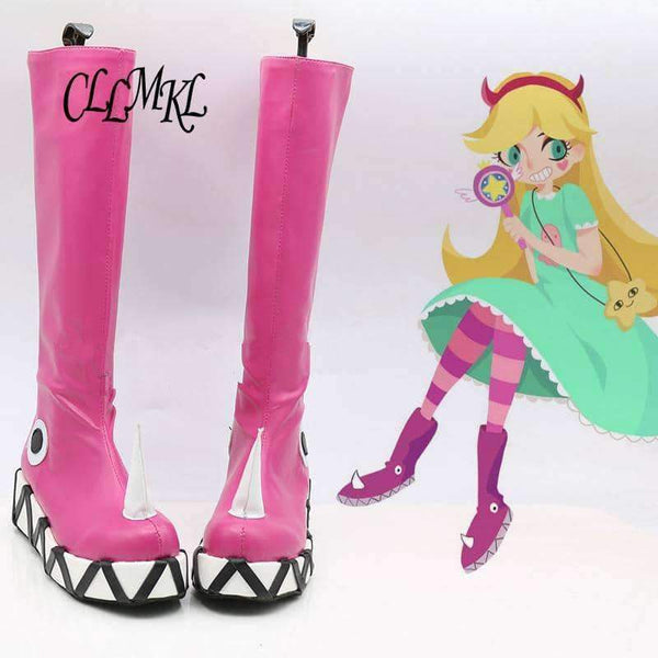leggycozy Shoes [leggycozy] Star vs.the Forces of Evil Princess Star Cosplay Anime Shoes Boots