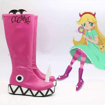 [leggycozy] Star vs.the Forces of Evil Princess Star Cosplay Anime Shoes Boots