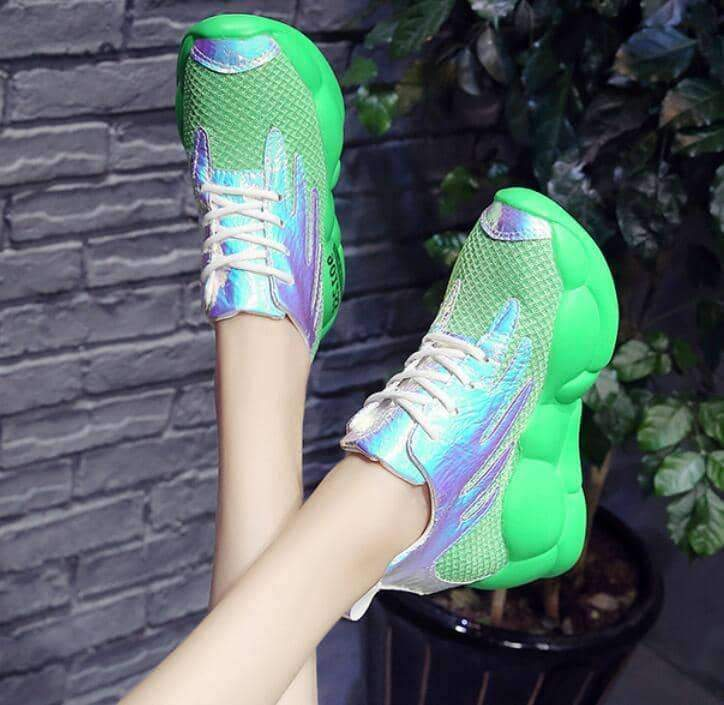leggycozy Shoes [leggycozy] Women's Breathable Mesh Platform Chunky Sneakers