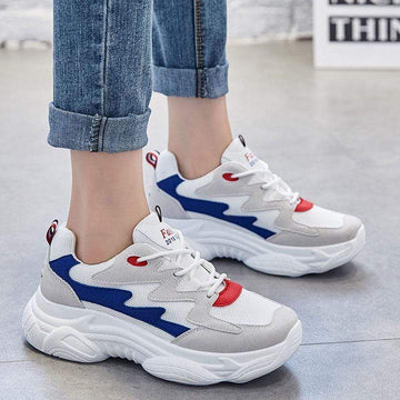 [leggycozy] Women's Casual Platform Breathable Chunky Sneakers