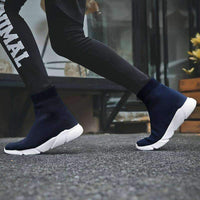 leggycozy Shoes [leggycozy] Women's High Top Knit Upper Breathable Sock Sneakers