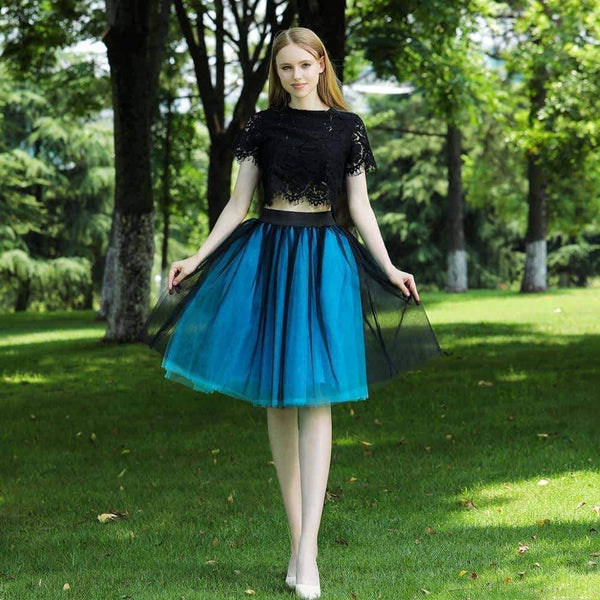 leggycozy Skirt [leggycozy] Elegant Mesh Pleated 7 Layers Dance Tulle Petticoat Skirt