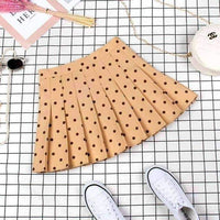 leggycozy Skirt [leggycozy] Japanese Preppy Style High Waist A-line Pleated Skirt -XS-XXl