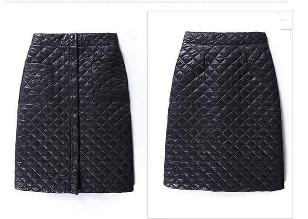 leggycozy Skirt [leggycozy] Korean Style Straight Casual Elegant Down Skirt -Plus Size 3XL