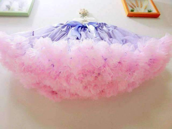 leggycozy Skirt [leggycozy] Princess Sweet Petticoat Voile Ball Gown Skirt With Bow