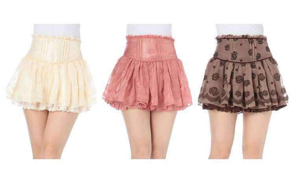 leggycozy Skirt [leggycozy] Princess Sweet Tall Waist Chiffon Skirt