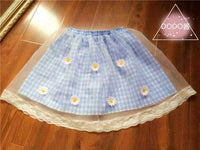 leggycozy Skirt [leggycozy] Vintage Lace & Floral Mesh Lattice Short Skirt