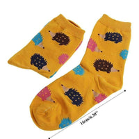 leggycozy socks [leggycozy] 5 Colors Hedgehog Animal Cartoon Casual Socks