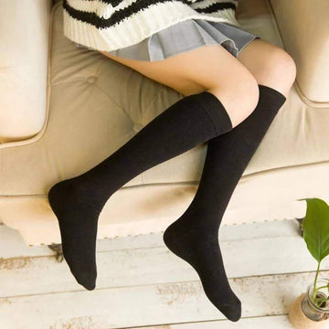 [leggycozy] (5 pairs/lot) High Quality Knee High Seamless Cotton Socks