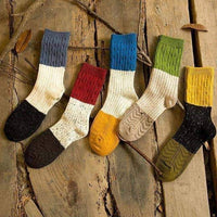 leggycozy socks [leggycozy] (5 Pairs/Set) High Quality Yarn Color Matching Socks