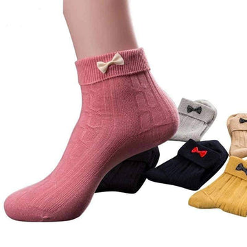 [leggycozy] (5pairs/set) Cute & Lovely Bow-Knot Casual Socks