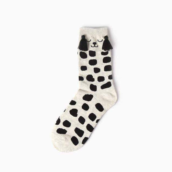 leggycozy socks [leggycozy] (6 Pairs/Set) Cute Animal Socks -Panda Bear Pig Giraffe