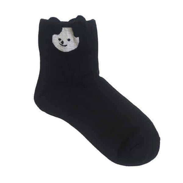 leggycozy socks [leggycozy] 85% Cotton Cute Little Ears Cartoon Funny Socks