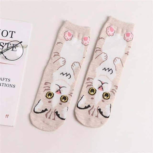 leggycozy socks [leggycozy] Animation Character Surprised Cat Socks