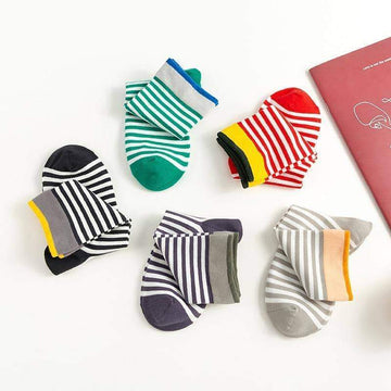 [leggycozy] Classic Cute Striped Unisex Cotton Socks