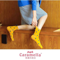 leggycozy socks [leggycozy] Colorful Dot Pattern Socks with Cute Pom Pom Tassel