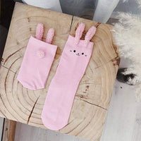 leggycozy socks [leggycozy] Cute Cartoon Rabbit Ears Lovely Winter Knitted Cotton Socks