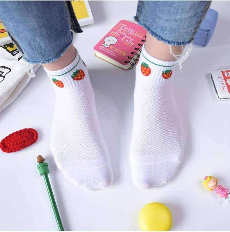 [leggycozy] Cute Funny Jacquard Ankle Cotton Socks
