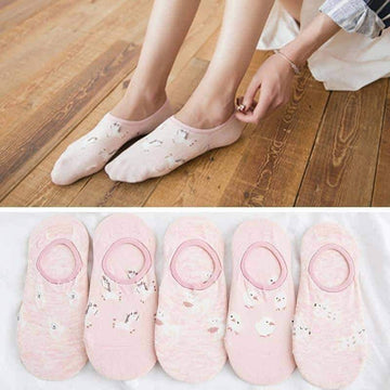 [leggycozy] Cute Invisible Short Sweat Comfortable Cotton Socks