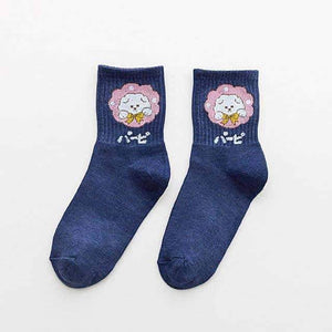 Open image in slideshow, [leggycozy] Cute Japanese Cartoon Animal Cotton Socks -Panda Puppy Kitten