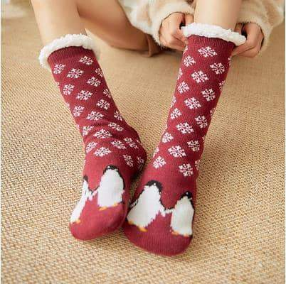 leggycozy socks [leggycozy] Double Thickened Fleece Christmas Cartoon Fluffy Socks -16 Colors