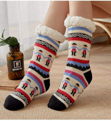 [leggycozy] Double Thickening Fleece Slipper Floor Socks