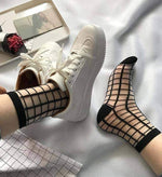 leggycozy socks [leggycozy] Fashion Mesh Ultra-Thin Transparent Glass Silk Socks