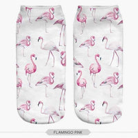 leggycozy socks [leggycozy] Flamingo Casual Polyester Low Cut Ankle Socks