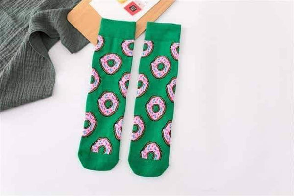 leggycozy socks [leggycozy] Funny Cute Cartoon Fruit Skateboard Socks -Banana Avocado Lemon Egg Cookie Donuts Foods