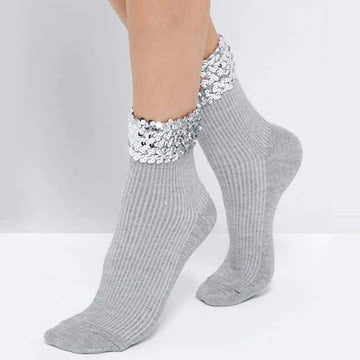 [leggycozy] Handmade Bling Sequins Socks