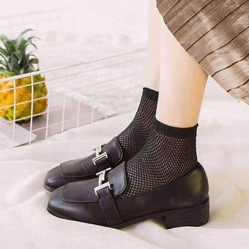 [leggycozy] Harajuku Candy Color Hollow Breathable Thin Mesh Fishnet Socks