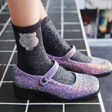 [leggycozy] Harajuku Shiny Sequin Glitter Breathable Cotton Socks