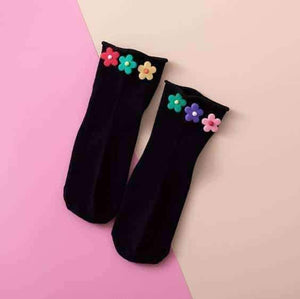 Open image in slideshow, [leggycozy] Harajuku Sweet Beauty Candy Color Flower Ruffle Socks