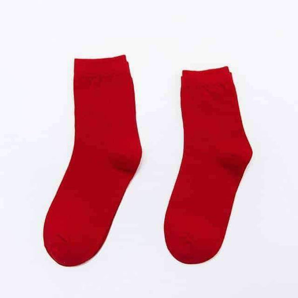 leggycozy socks [leggycozy] Harajuku Unisex Cartoon Animal Red Cotton Socks For Couple