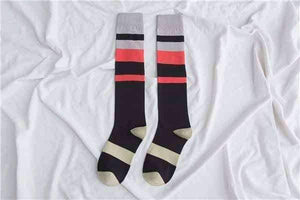 Open image in slideshow, [leggycozy] Japanese Fashion Simple Striped Knee Socks