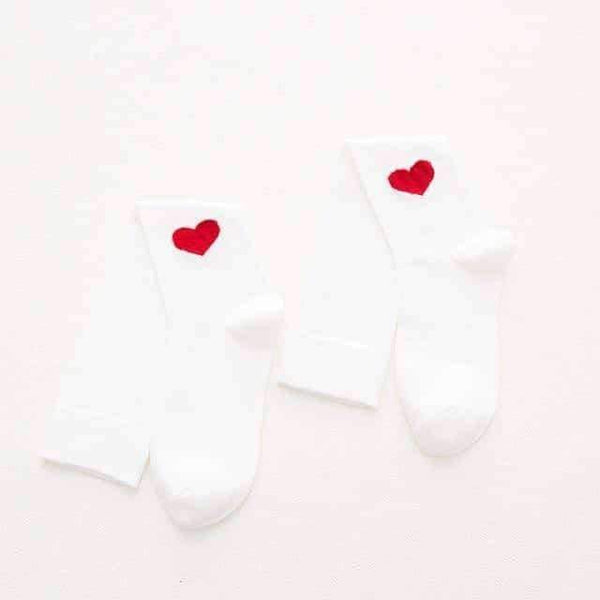 leggycozy socks [leggycozy] Japanese School Fashion Cute Heart Shaped Cotton Knee Socks