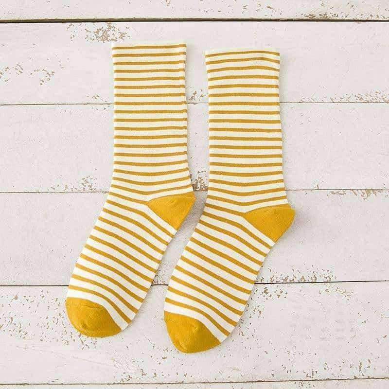 [leggycozy] Japanese Style Striped Cute Cotton Socks