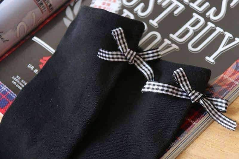 [leggycozy] Japanese Uniforms Style Calf Socks with Bow