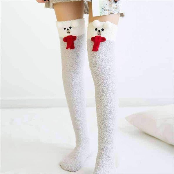 leggycozy socks [leggycozy] Kawaii Cozy Long Thigh High  Warm Knee Socks