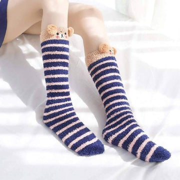 [leggycozy] Kawaii Cute Christmas Animal Velvet Warm Fluffy Socks