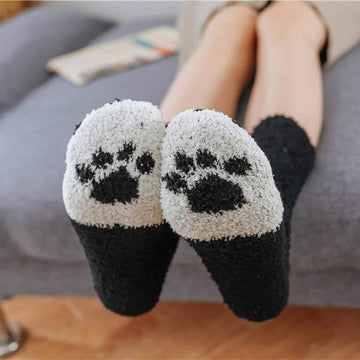 [leggycozy] Kawaii Cute Kitty Paw Fluffy Cotton Socks