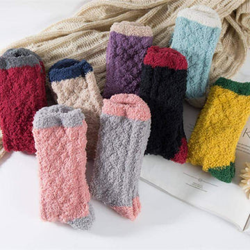 [leggycozy] Kawaii Japanese Style All-match Casual Thickened Coral Fleece Socks